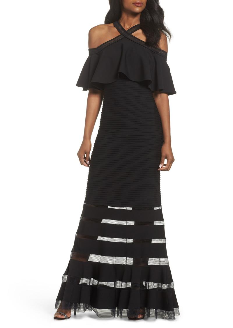 Tadashi Tadashi Shoji Jersey Cold-Shoulder Gown (Regular & Petite ...