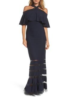Tadashi Shoji Jersey Cold-Shoulder Gown (Regular & Petite)