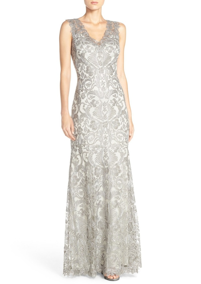 On Sale today! Tadashi Tadashi Shoji Kelly Embroidered Mermaid Gown ...