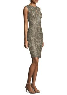 Tadashi Shoji Keyhole Lace Knee-Length Dress