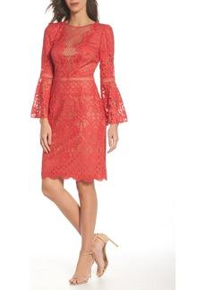 Tadashi Shoji Kyra Bell Sleeve Lace Dress