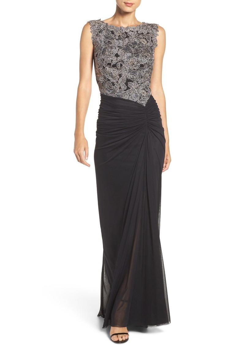 Tadashi Tadashi Shoji Lace & Mesh Gown (Regular & Petite)   Dresses