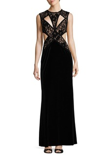 Tadashi Lace Crepe Gown
