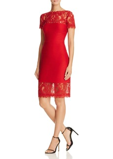 Tadashi Shoji Lace Detail Pintucked Dress - 100% Exclusive