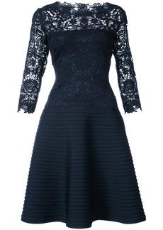 Tadashi Shoji lace embroidered flared dress - Blue