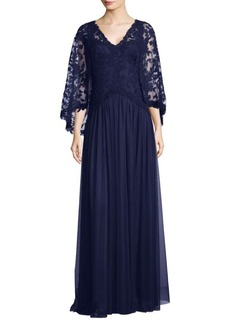 Tadashi Lace Floor-Length Gown