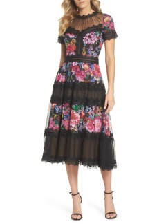 Tadashi Shoji Lace Floral Midi Dress