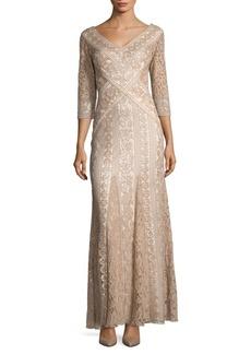 Tadashi Shoji Lace Godet Dress