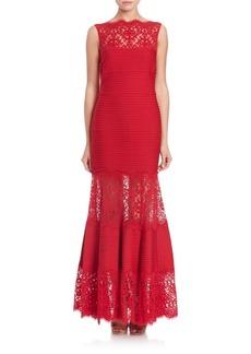 Tadashi Lace Mermaid Gown
