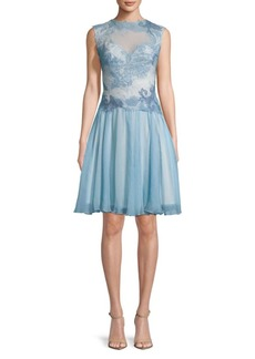 Tadashi Lace Key Hole Back Dress