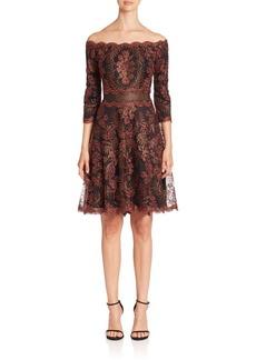 Tadashi Lace Off-the-Shoulder Dress