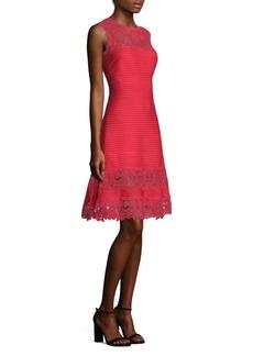 Tadashi Lace Pintuck Dress