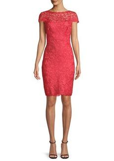 Tadashi Lace Sheath Illusion Dress