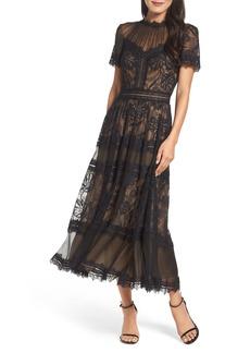 Tadashi Shoji Lace Tea-Length Dress