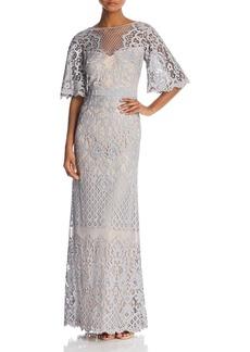 Tadashi Shoji Latticework Lace Gown