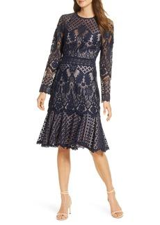 Tadashi Shoji Long Sleeve Lace Cocktail Dress