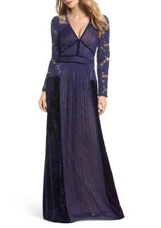 Tadashi Shoji Mixed Media A-Line Gown