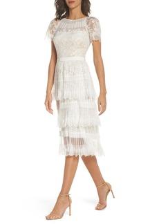 Tadashi Shoji Nixie Tea Length Lace Dress