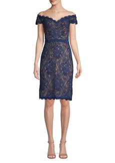 Tadashi Shoji Off-the-Shoulder Lace Sheath Dress
