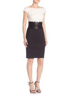 Tadashi Shoji Off-The-Shoulder Colorblock Dress
