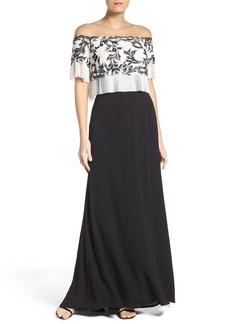 Tadashi Shoji Off The Shoulder Jersey Dress