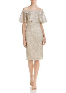 Tadashi Shoji Off-the-Shoulder Lace Dress