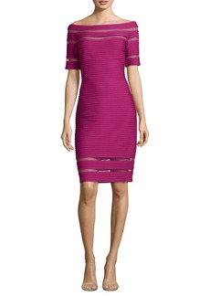Tadashi Shoji Off-The-Shoulder Pintuck Dress