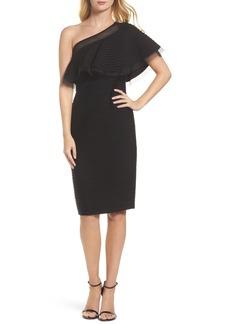 Tadashi Shoji Pintuck One-Shoulder Dress
