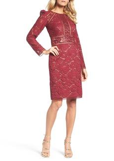 Tadashi Shoji Rose Lace Sheath Dress