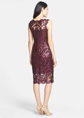 Tadashi Shoji Sequin Illusion Lace Dress (Regular & Petite)