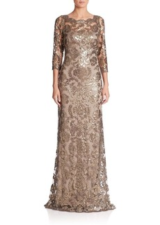 Tadashi Sequin Lace Gown