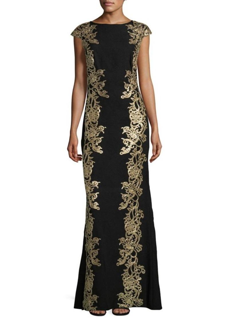 Tadashi Tadashi Shoji Sequined Vine Column Gown | Dresses