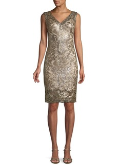 Tadashi Sleeveless Corded Lace Dress