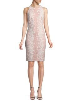 Tadashi Sleeveless Lace Appliqué Sheath Dress