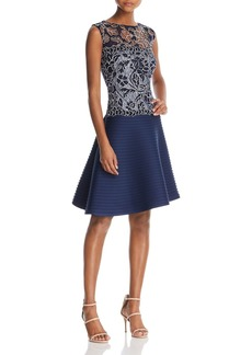 Tadashi Shoji Sleeveless Lace Fit-and-Flare Dress