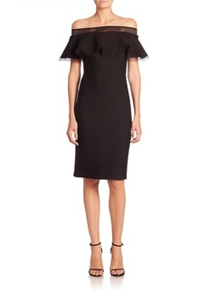 Tadashi Shoji Solid Off-The-Shoulder Dress