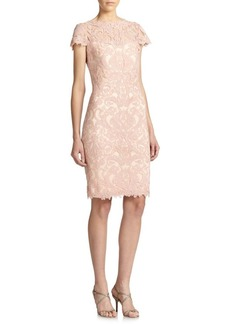 Tadashi Shoji Soutache-Embroidered Sheath Dress