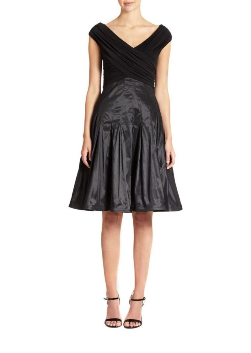 Tadashi Taffeta Fit-And-Flare Dress