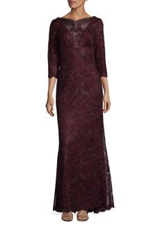 Tadashi Shoji Three-Quarter Embroidered Dress