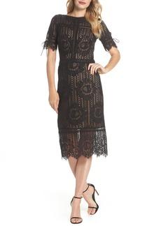 Tadashi Shoji Tie Sleeve Lace Dress