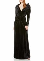 Tadashi Shoji Women's 3/4 Sleeve Velvet Gown  XL