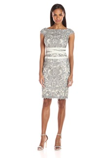 Tadashi Shoji Women's Corded Lace Dress with Banded Waist