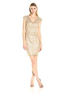 Tadashi Shoji Women's Corded Lace V Back Dress