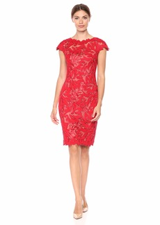 Tadashi Shoji Women's C/S CRDED LACE Dress