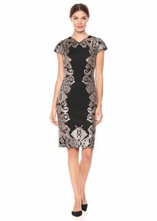 Tadashi Shoji Women's C/S Neoprene and Sequin Dress  XL