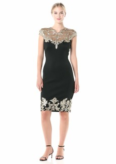 Tadashi Shoji womens C/S Neoprene W/ Sequin Lace Detail Special Occasion Dress   US