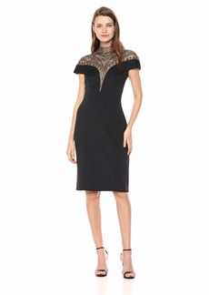Tadashi Shoji Women's c/s Neoprene Embellished Dress  M