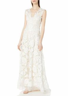 Tadashi Shoji Women's C/S Sweetheart Neck LACE Gown