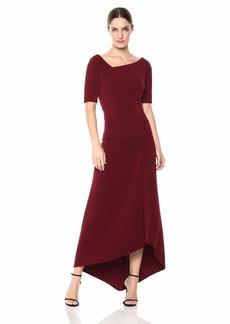 Tadashi Shoji Women's Elbow SLV Pintuck Gown  XL