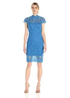 Tadashi Shoji Women's High Neck Lace Dress